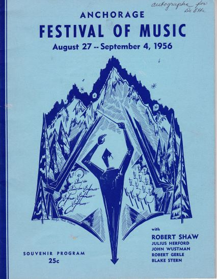 Program cover of first AFM concert